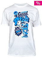 UNITED SKATEBOARD ARTISTS Speed Polish S/S T-Shirt white / b.blue navy