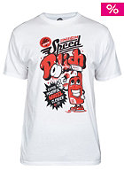 UNITED SKATEBOARD ARTISTS Speed Polish S/S T-Shirt white / red black