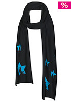 UNITED SKATEBOARD ARTISTS Stars Scarf black / acid bright blue