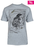 UNITED SKATEBOARD ARTISTS Transition S/S T-Shirt grey / black pistaccio brown