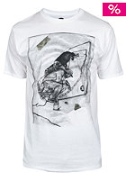 UNITED SKATEBOARD ARTISTS Transition S/S T-Shirt white / black pistaccio brown