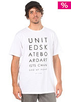 UNITED SKATEBOARD ARTISTS United Changed S/S T-Shirt white/black