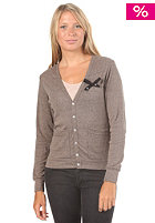 UNITED SKATEBOARD ARTISTS Womens Bow Wow Cardigan tri coffee