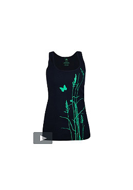 UNITED SKATEBOARD ARTISTS Womens Grass2 Tank Top navy/mint