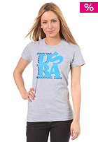 UNITED SKATEBOARD ARTISTS Womens Love USBA S/S T-Shirt grey/navy b. blue white