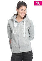 UNITED SKATEBOARD ARTISTS Womens Miss Hedgehog Hooded Zipper grey/white