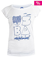 UNITED SKATEBOARD ARTISTS Womens Miss Hedgehog S/S T-Shirt white / royal