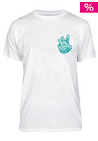 UNITED SKATEBOARD ARTISTS Zombie S/S T-Shirt white / evergreen