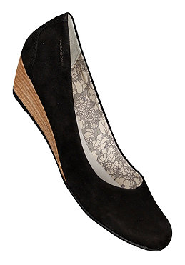VAGABOND Womens Poppy velour black/light heel