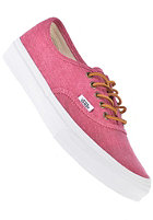 VANS Authentic Slim washed canvas persian red/true white