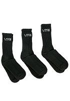 VANS Classic Crew Socks 3PPK 9US-11US black