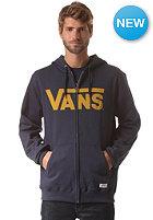 VANS Classic Hooded Zip Sweat navy/mustard