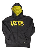 VANS Classic Hooded Zip Sweat newcharcoalhthr