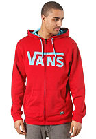 VANS Classic Hooded Zip Sweat red/blue atoll