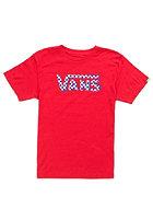 VANS Kids Checker Classic S/S T-Shirt red/white