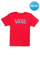 VANS Kids Checker Classic S/S T-Shirt red/white