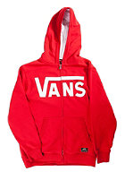 VANS Kids Classic Hooded Zip Sweat reinvent red/white