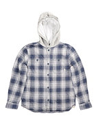 VANS Kids Portola Hooded Zip Sweat navy plaid
