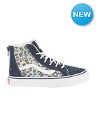 VANS Kids SK8-HI Zip (leopard denim) fleece/dress blues