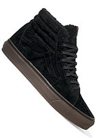 VANS Sk8 Hi Fleece black/dark gum
