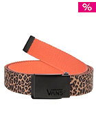VANS Womens Liberated Web Belt leopard herringbone