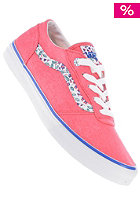 VANS Womens Milton (washed) rouge red/flowers