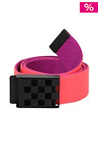 VANS Womens Restrained Web Belt neon red/neon p