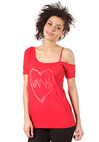 VANS Womens Sketched Love S/S T-Shirt scarlet