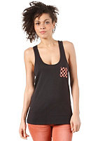 VANS Womens The Printed Pocket Tank Top black