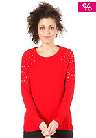 VILA Seku Knit Top winter red