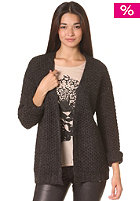 VILA Womens Anfu Knit Open Cardigan dark grey melange