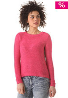 VILA Womens Anvar Knit Zip Sweat raspberry sorbet