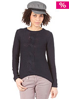 VILA Womens Cable Knit Sweat marine