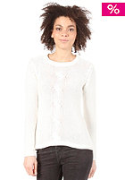 VILA Womens Cable Knit Sweat white