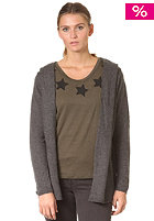 VILA Womens Camaya Knit Cardigan dark grey melange