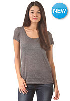 VILA Womens Cameo S/S T-Shirt medium grey melange