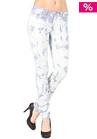 VILA Womens Cleavo Low 5 Pocket Tie Dye Pant denim