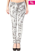 VILA Womens Cleavo Low 5 Pocket Tie Dye Pant rabbit