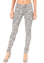 VILA Womens Cleavo Low 5 Pocket Zebra Pant paloma
