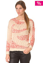 VILA Womens Desire Knit Top novelle peach/ with super neon