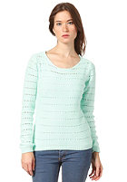 VILA Womens Diamanta Knit Sweat brook green