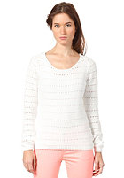 VILA Womens Diamanta Knit Sweat white
