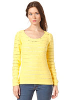 VILA Womens Diamanta Knit Sweat yellow cream