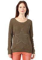 VILA Womens Drop Knit Sweat ivy green