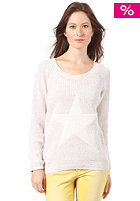 VILA Womens Drop Knit Sweat off white