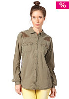 VILA Womens Edea L/S Shirt ivy green