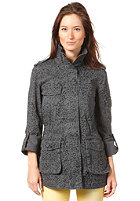 VILA Womens Falda Print Jacket dark grey melange