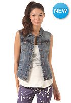 VILA Womens Fear Denim Vest dark blue denim