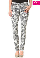 VILA Womens Filipi Low Slim Floral Pant black/white flow