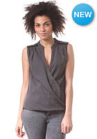 VILA Womens Gracious Wrap Top choal grey